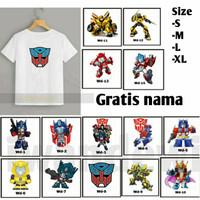 Kaos Transformers anak Laki laki/Baju anak optimus prime Pilih motif
