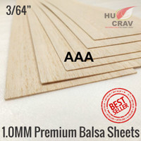 Balsa sheet tebal 1mm 10cmx100cm (1x100x1000mm)