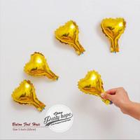 balon foil love MINI GOLD / balon hati / balon foil hati mini 10 cm