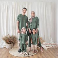 Kakha - Sarimbit Keluarga Kareem (Army) / Baju Couple Keluarga Muslim