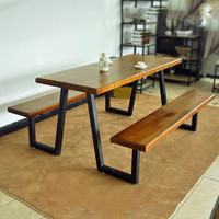 kursi meja taman kaki besi