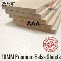 Balsa Sheet Tebal 10mm 10cmx100cm (10x100x1000mm) Murah & Kayu Maket