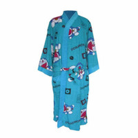 kimono handuk import motif Doraemon | baju kimono handuk dewasa murah - Biru, All Size