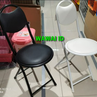 Kursi lipat sholat / kursi lipat bulat traveling uk 44.5 x 49 x 80 cm - Putih