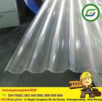 Atap Plastik Transparan - Fiber Gelombang Murah di Malang