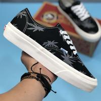 Sepatu Vans Authentic OG LX Rasta Leaf Island Black