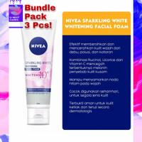 Sabun Muka Nivea Sparkling White Foam 50 ml - Bundle Promo