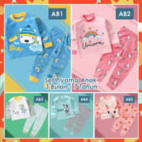 Piyama Anak Kekinian / Baju tidur Anak 1-10 tahun /Bahan Premium Impor