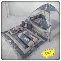 Set Kasur Baby Nest Kombinasi Kelambu Lipat Tenda Dan Selimut