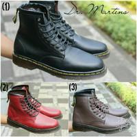 Sepatu boots Dr. Martens Docmart boots murah maroon black brown casual