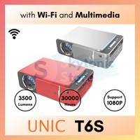 Proyektor Mini UNIC T6S 3500 Lumens Wireless Mirroring Display