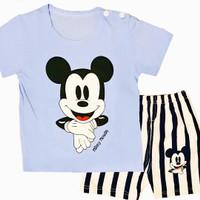 Setelan Baju Kaos Anak Micky Murah Laki-laki/Perempuan 1 2 3 4 5 tahun