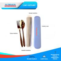 Nutrisalin - 1 Set Cutlery Stainless Steel Premium