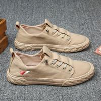 Sepatu Sneaker Pria Import Kasual Santai ALVARO Low Basic - Cokelat, 40