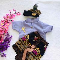 Setelan Baju Adat Bali Anak 1 Tahun