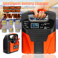 Pulse Repair Battery Charger 12V/24V 10A -Alat Cas Aki Motor Mobil LCD