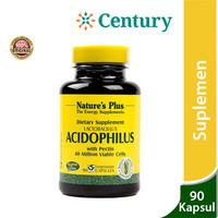 Nature's plus Acidophilus 90 Tablet/probiotik/Lactobacillus/Suplemen