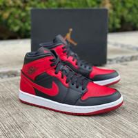 Sepatu Nike Air Jordan 1 Mid Bred Banned