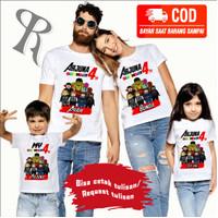KAOS COUPLE FAMILY BAJU ULANG TAHUN ANAK TEMA LEGO -BEST SELLER-