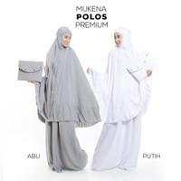 Mukena Dewasa Bali Polos Premium (BEST SELLER) - Abu