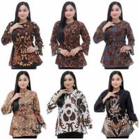Pakaian Baju Seragam Kerja Batik Blouse Wanita Cewek Dewasa Remaja