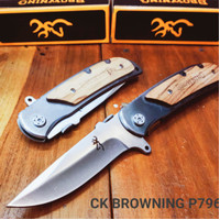Pisau Lipat Tactical Army [CK BROWNING 338/P796] Pocket Knife Survival