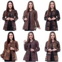 Kemeja Atasan Baju Kerja Blouse Wanita Motif Batik Modern Kekinian
