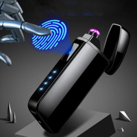 Firetric Korek Api USB Elektrik Pulse Plasma Anti Angin Fingerprint