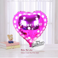 balon foil hati love you 4 / balon hati fanta motif / balon valentine
