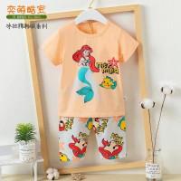 Piyama anak/baju tidur anak/setelan harian premium Ariel Mermaid (229)