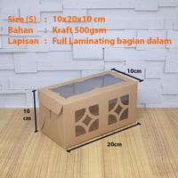 Cake Box/Dus/Kue Lapis Legit/Bolu Gulung Laminasi Size S (10x20x10)