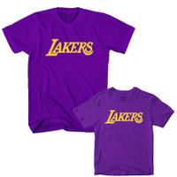 Kaos Basket Couple LA Lakers Ayah Anak Warna Ungu S,M,L,XL,2XL,3XL,4XL