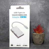 USB Type C to Vga Hdmi Dvi Usb Dell Asus Hp Macbook Samsung S9 S10 P30
