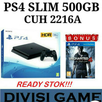 Ps4 Slim 500gb CUH 2016 +Game Unchanted 4