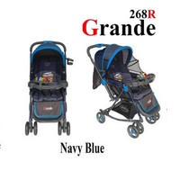 Pliko PK268 Grande 2 in One Kereta Bayi & Ayunan Biru
