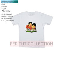 cotton combed 24s - kaos anak film pada zaman dahulu - t-shirt anak