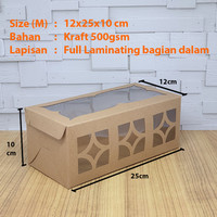 Cake Box/Dus/Kue Lapis Legit/Bolu Gulung Laminasi Size M (12x25x10)