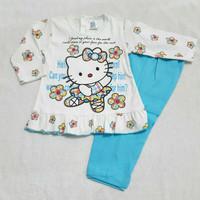 Piyama baju tidur bayi anak perempuan Hello Kitty, 6-12bln