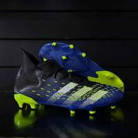 Sepatu Bola Adidas Predator Freak.3 FG Black Yellow Blue Original