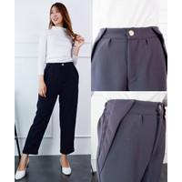 Saggy Celana Panjang Polos Kantor Wanita PREMIUM 2382