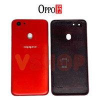 Backdoor Casing Belakang Tutupan Baterai Oppo F5 Black/Gold - Merah