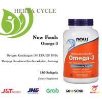 Now Foods Omega-3 180 EPA/120 DHA 180 Soft Vit Minyak Ikan ORI USA
