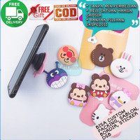 Pop Socket 3D Karakter Kartun Aksesoris HP