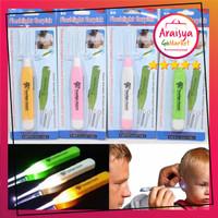 Korek Kuping Anak / Pembersih Telinga Lampu LED Earpick Flash Light