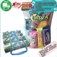 Tas Snack Souvenir Ulang Tahun Murah Label Custom Plastik Snack