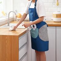 Lils | celemek apron dapur ada kantong lap tangan handuk anti noda air
