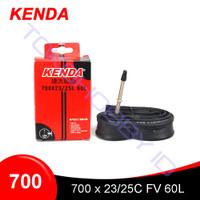 Ban Dalam Sepeda Road Bike KENDA 700 x 23 25c FV 60L Pentil Kecil