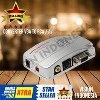 CONVERTER VGA TO RCA / VGA TO AV VIDEO RCA Support CCTV