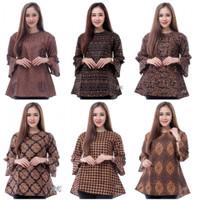 Baju Pakaian Kemeja Blouse Batik Kerja Wanita Dewasa Remaja Premium