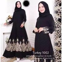 Fashion Dress Muslim Arab Saudi Abaya Dubai Maxi Turkey Syari 1002 - S